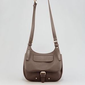 Longchamp Balzane leather crossbody saddle bag